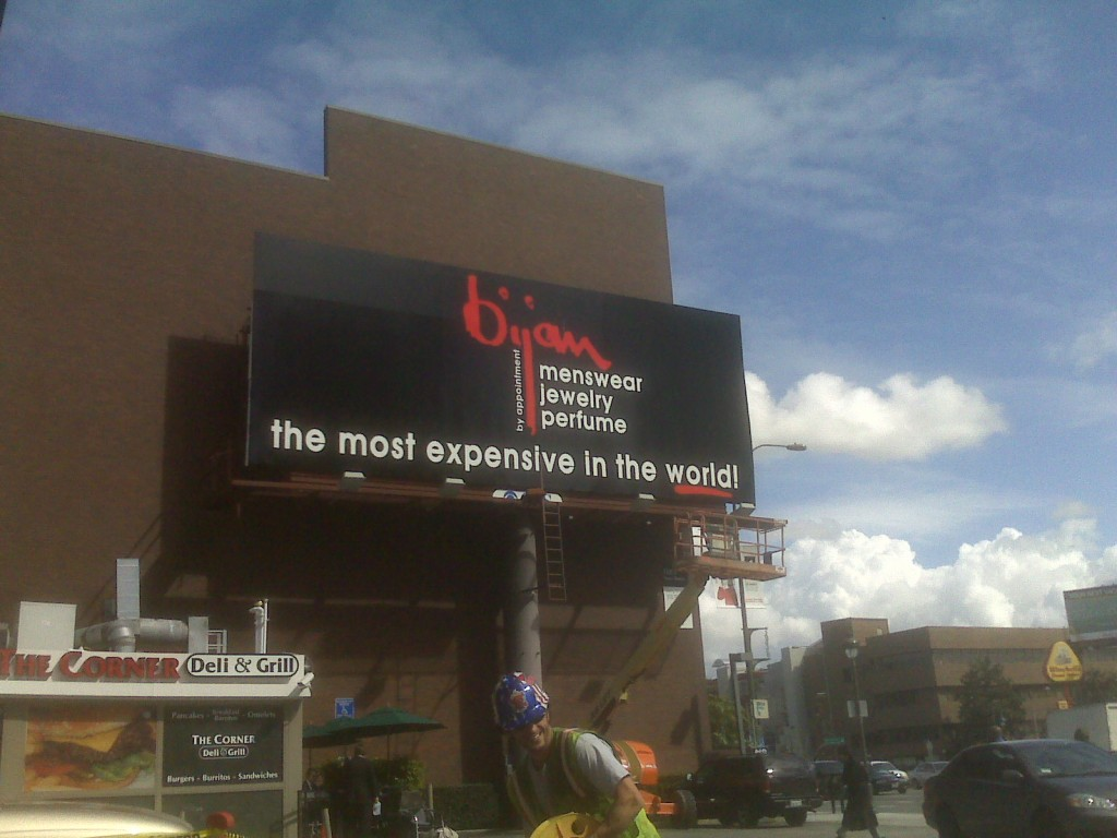 Bijan Advertising Billboard