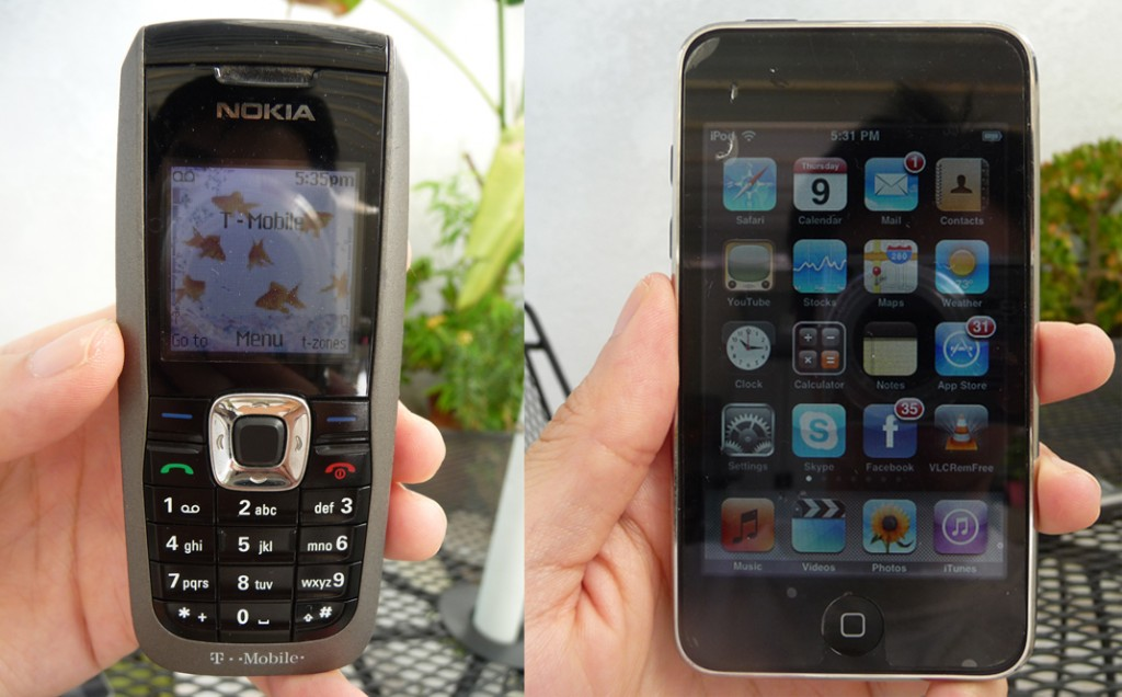 nokia-2610-and-ipod-touch